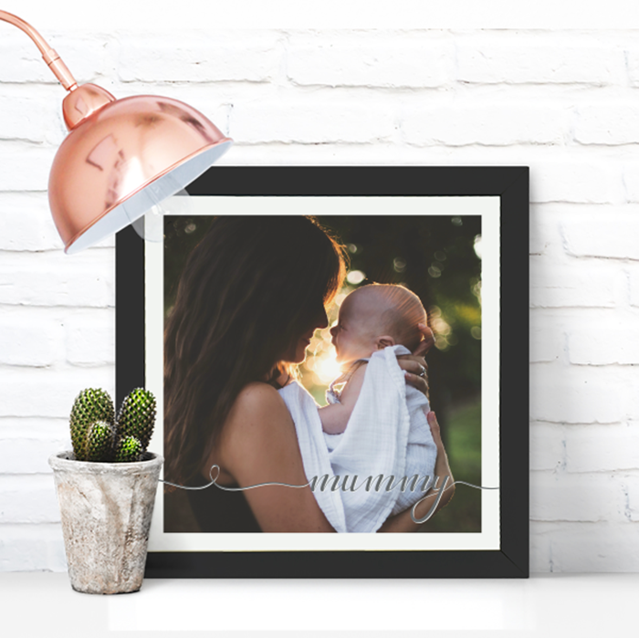 Picture of Square Mummy Script personalised poster