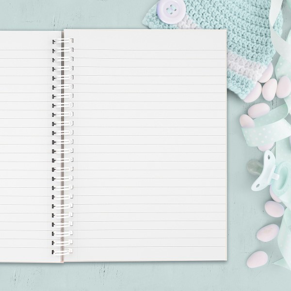 Picture of A5 GREY NNU thoughts hardcover spiral notebook