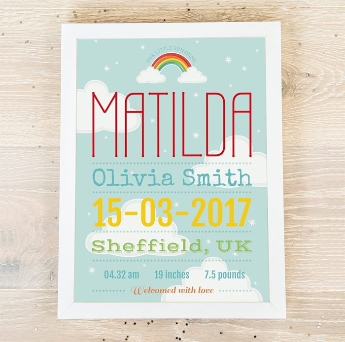 Picture of Dreamy Baby personalised poster