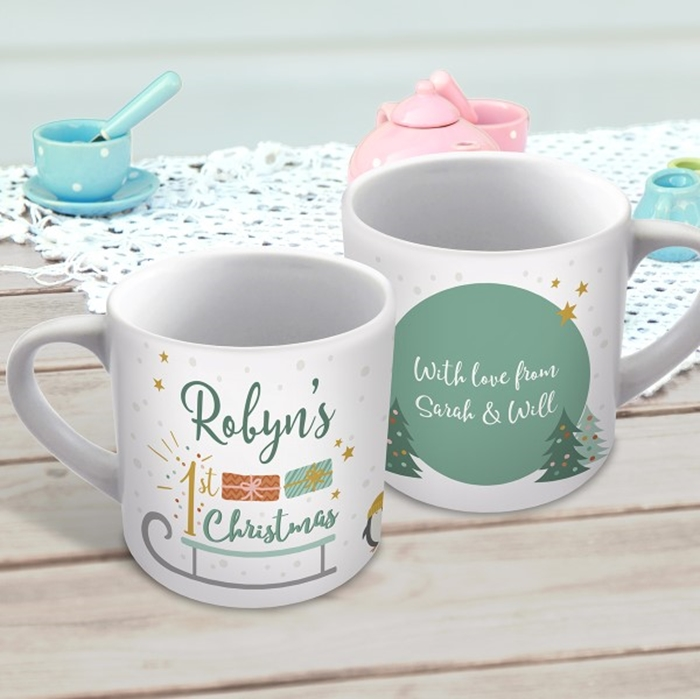 Picture of 1st Christmas child's personalised mug
