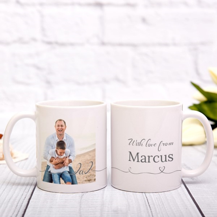 Picture of Dad Script personalised mug
