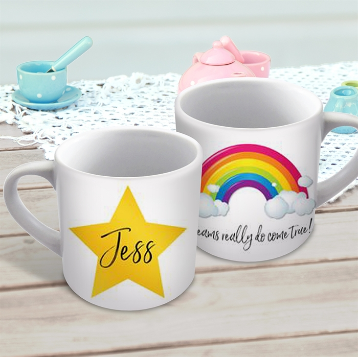 Picture of Rainbows and stars child's personalised mug