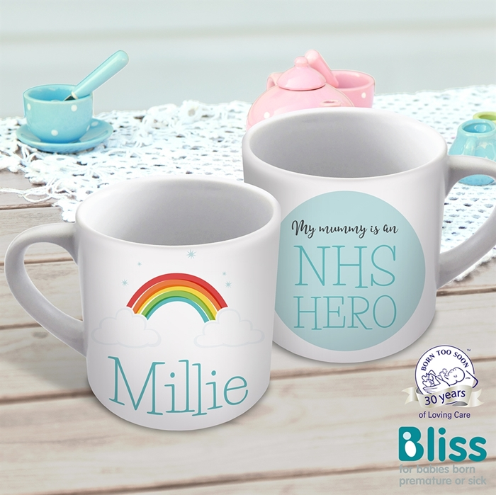 Picture of Rainbow hero child's personalised mug