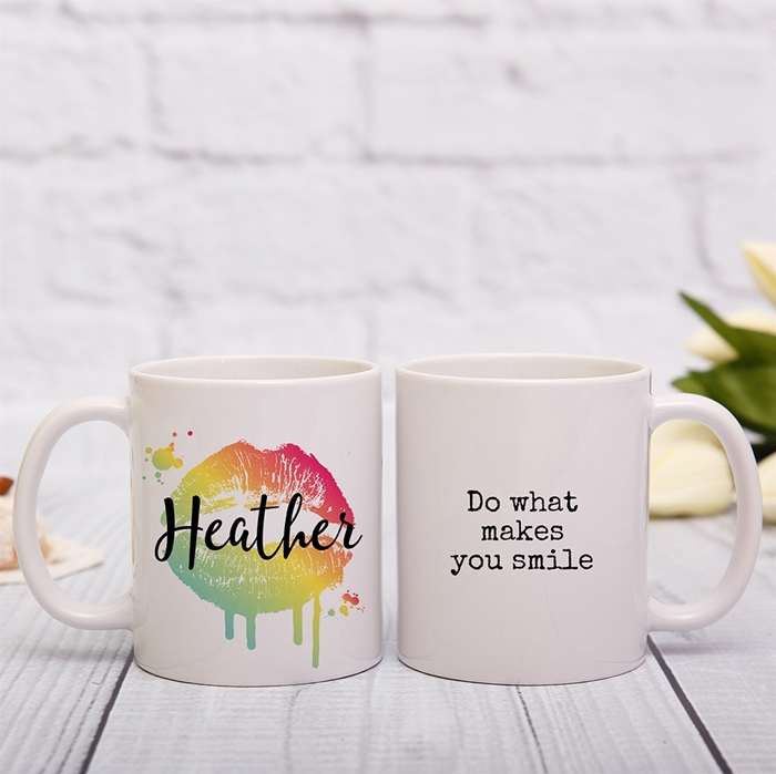 Picture of Tie-dye lips personalised mug