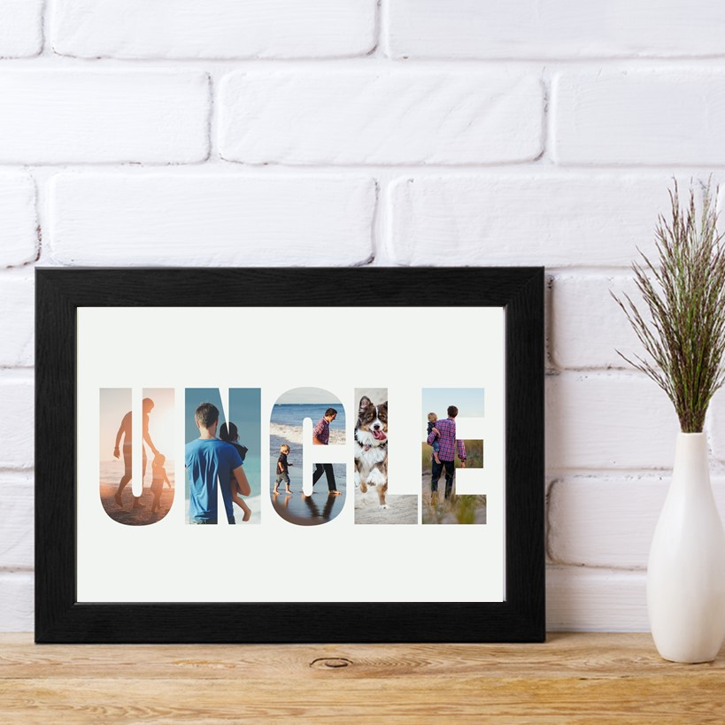 Picture of A4 Uncle Photo personalised poster