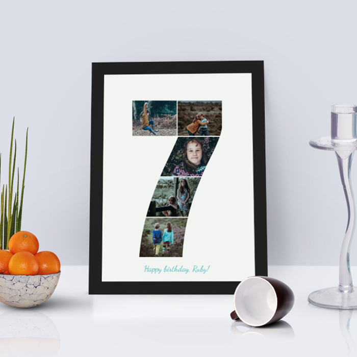 Picture of 7 year personalised poster
