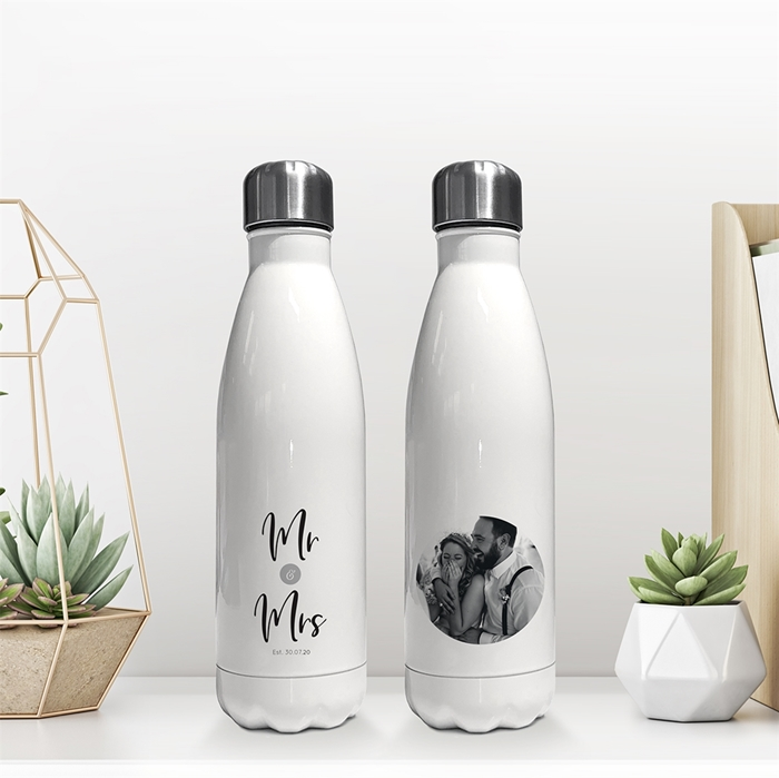 Picture of Mr & Mrs insulated water bottle