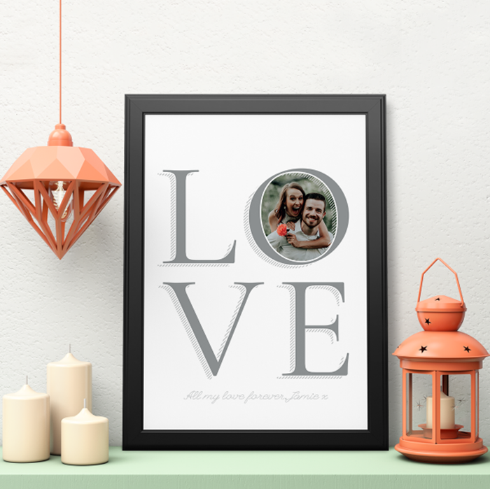 Picture of A3 Love personalised poster