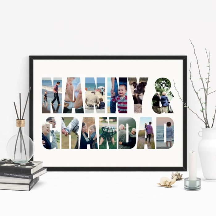 Picture of A3 Nanny & Grandad Photo personalised poster