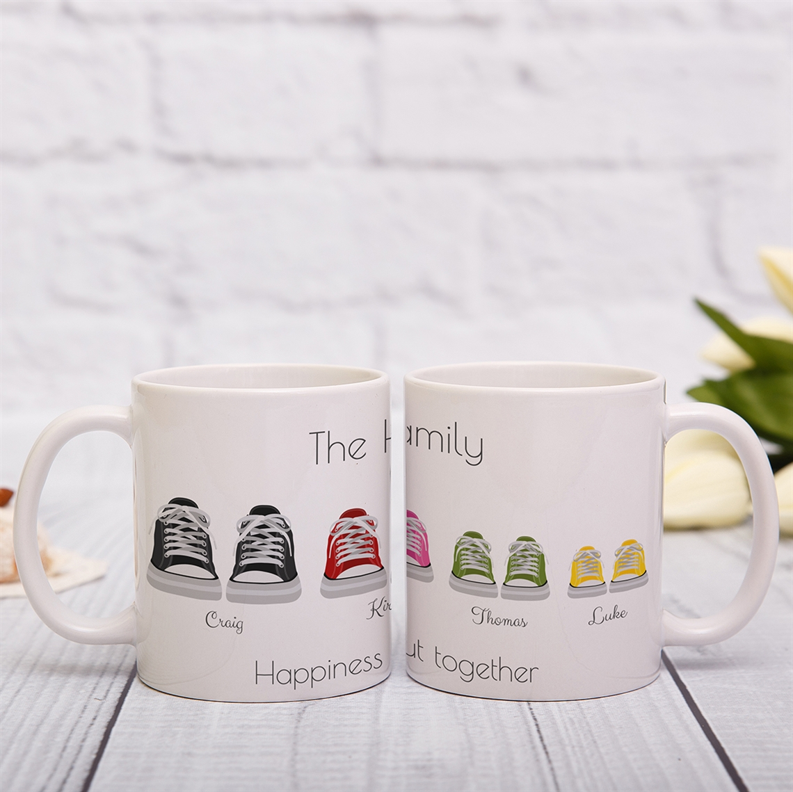 Picture of Converse-style family personalised mug