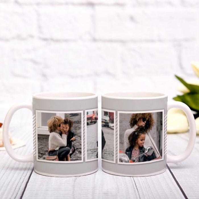 Picture of 3 photo personalised mug
