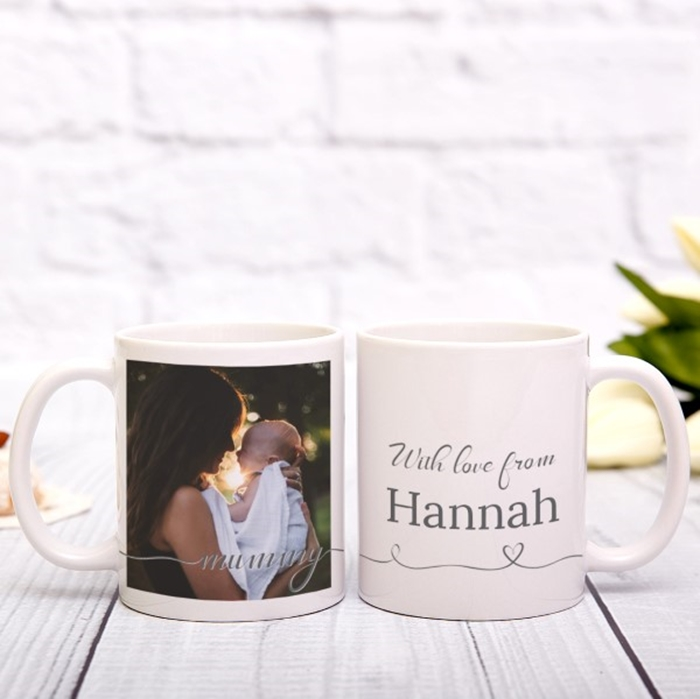 Picture of Mummy Script personalised mug