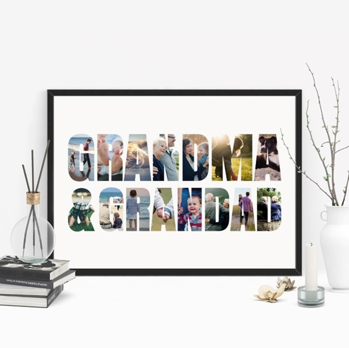 Picture of A3 50th anniversary personalised photo poster