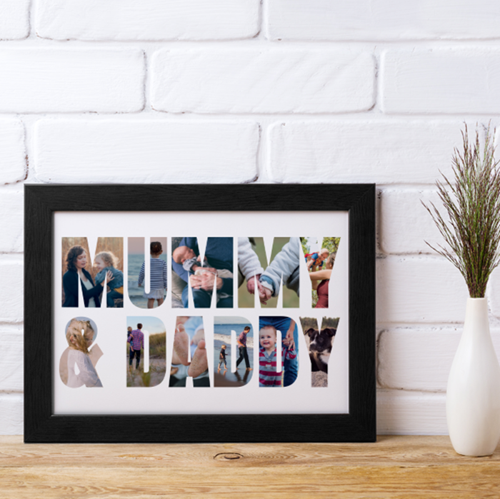 Picture of Mummy & Daddy Photo personalised poster