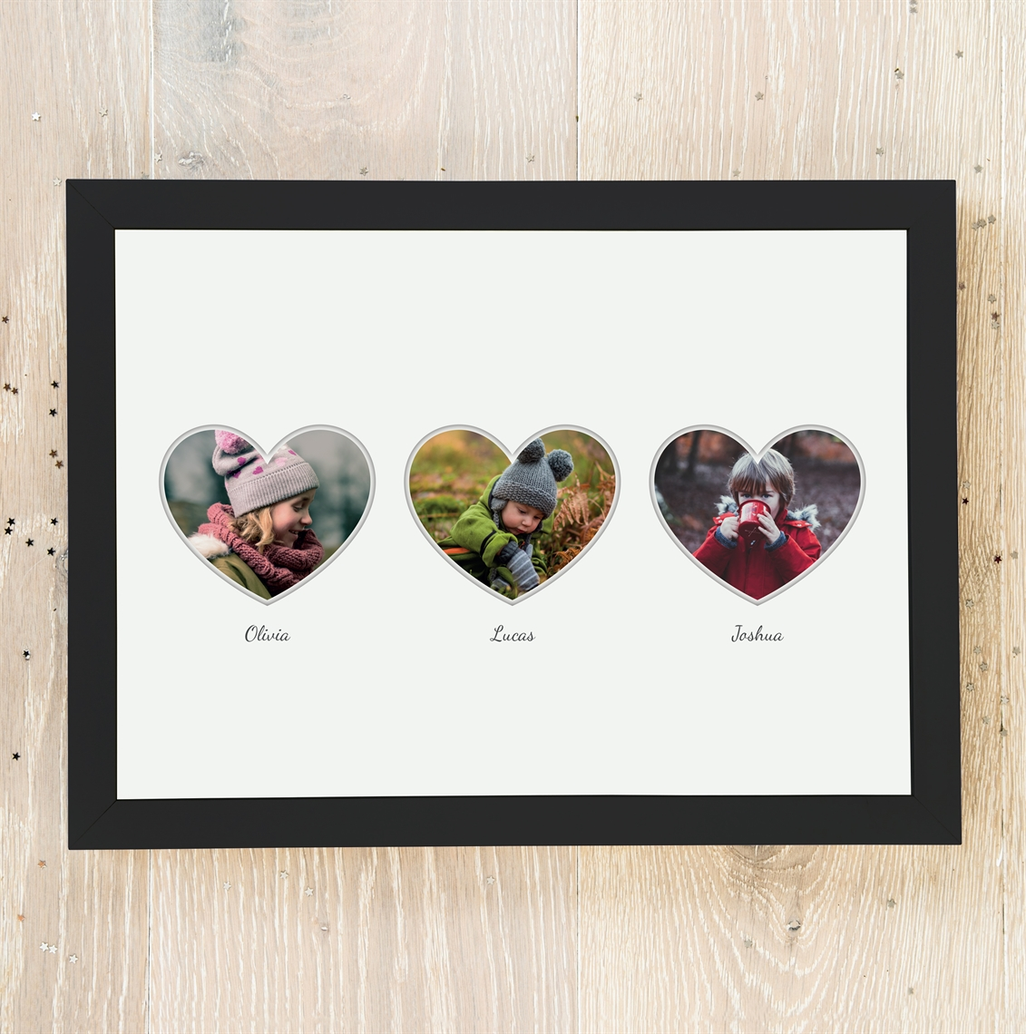 Picture of NUX A4 3 Heart Photo personalised poster