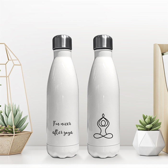 Picture of Yoga personalised insulated water bottle