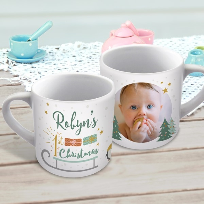 Picture of 1st Christmas photo child's personalised mug
