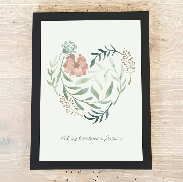 Picture of A3 Heart in bloom personalised poster