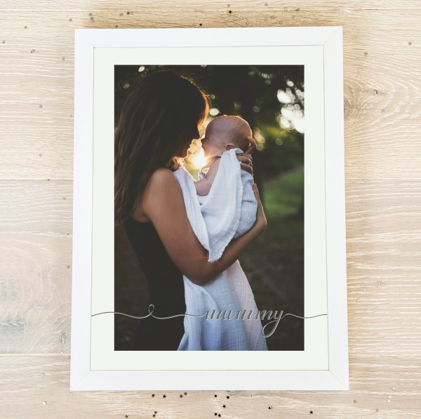 Picture of A4 WOW Mummy script personalised poster