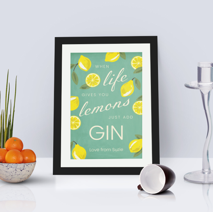 Picture of A4 When life gives you lemons personalised poster