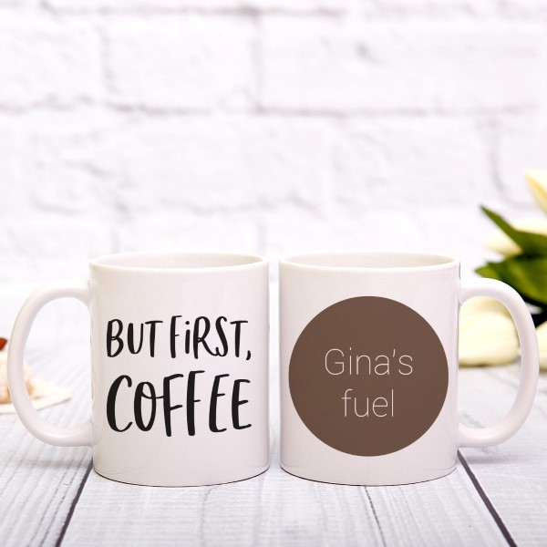 Picture of But first, coffee personalised mug