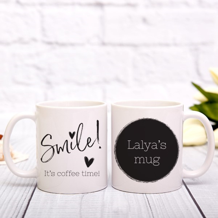 Picture of Smile, it's coffee time personalised mug