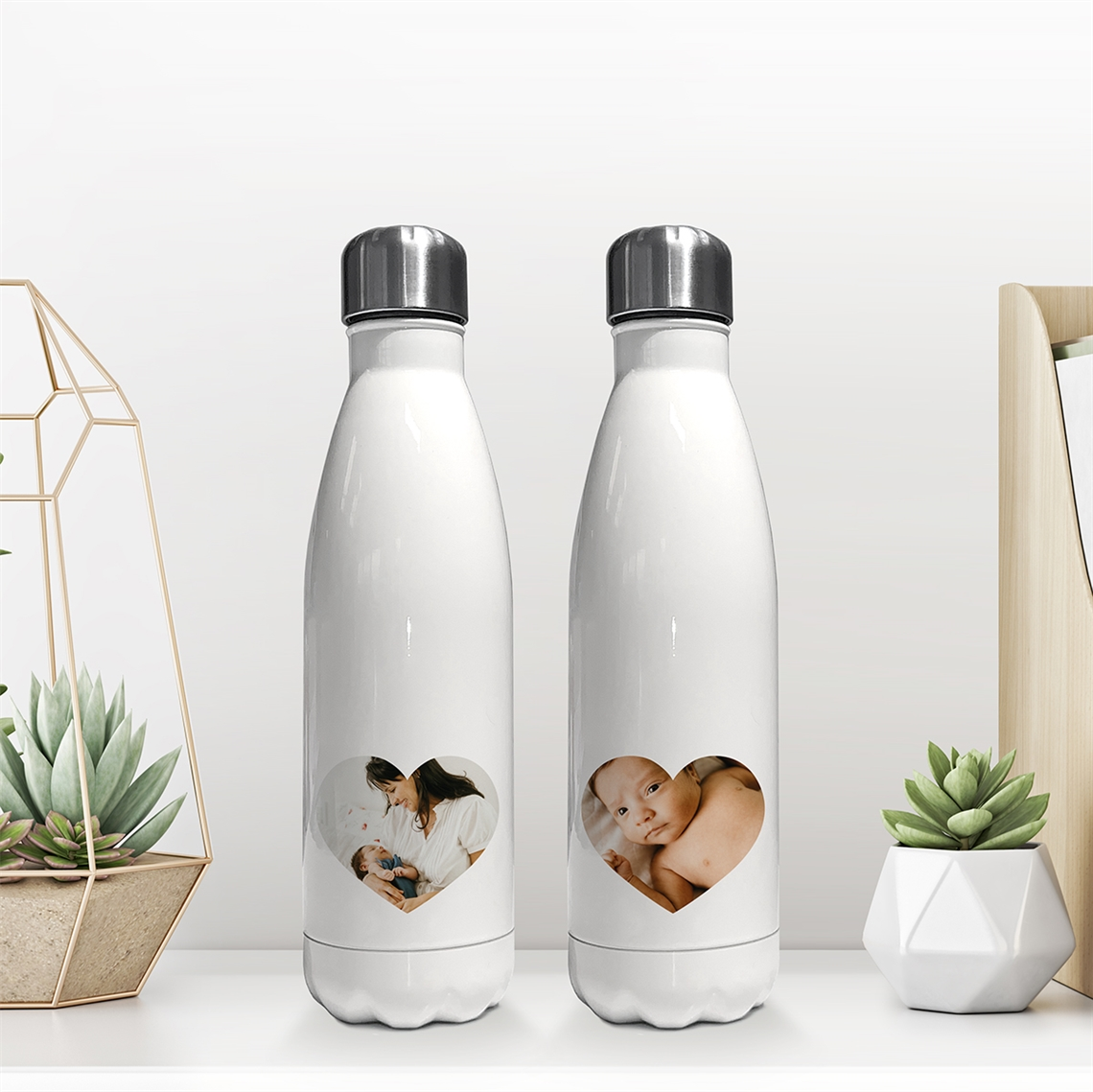 Picture of Heart photo insulated water bottle