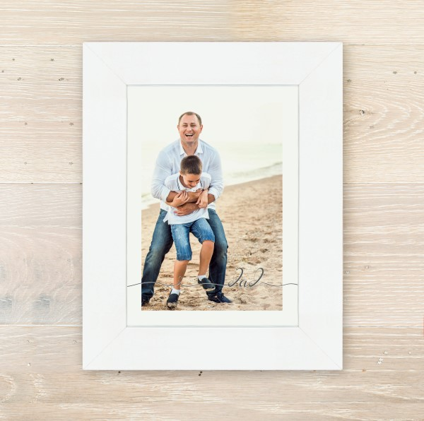 Picture of A5 Dad script personalised poster