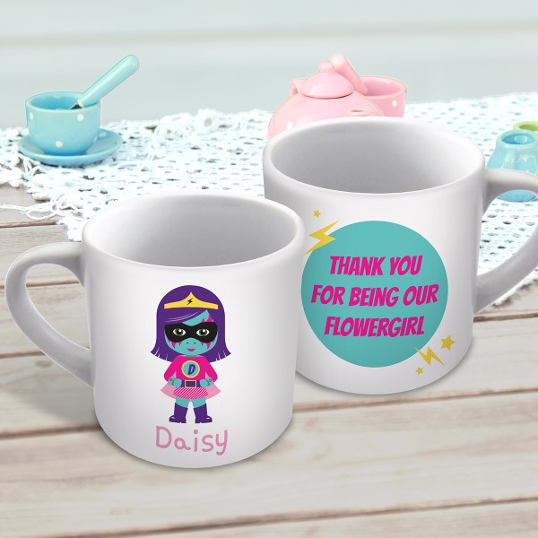 Picture of Superhero Girl child's personalised mug