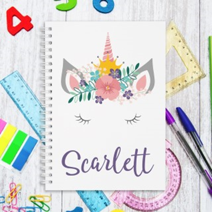 Picture of A5 Unicorn Crown hardcover spiral notebook