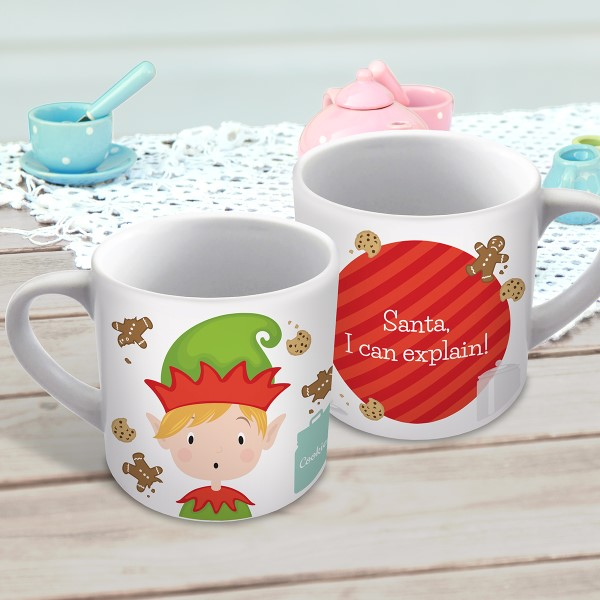 Picture of Elf Christmas child's personalised mug