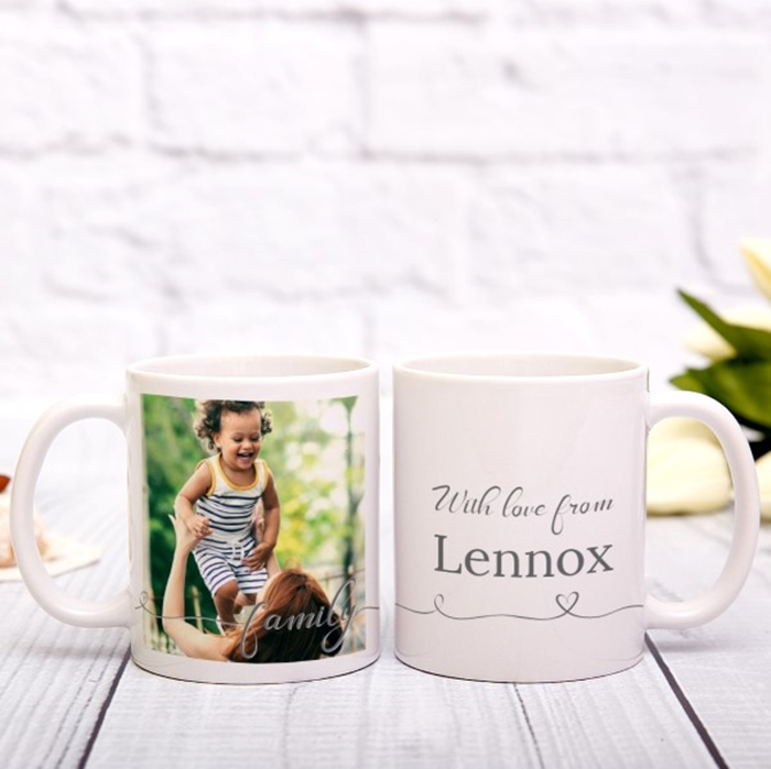 Picture of Family Script personalised mug