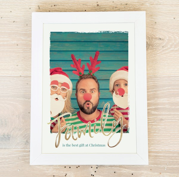 Picture of A3 Festive Family script personalised poster