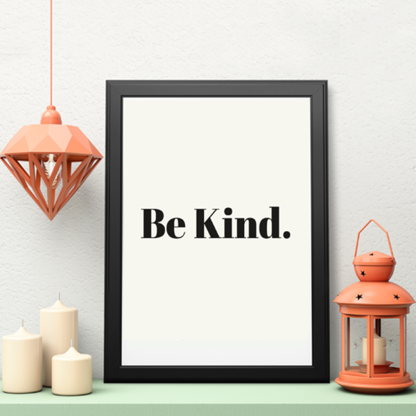 Picture of Be Kind framed poster