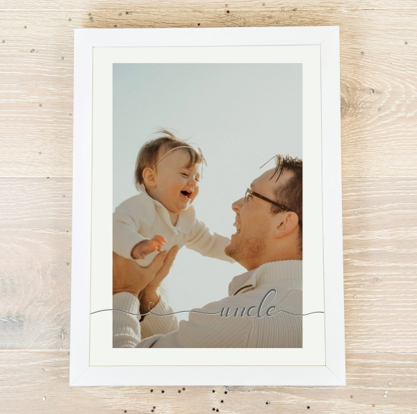 Picture of A4 Uncle script personalised poster