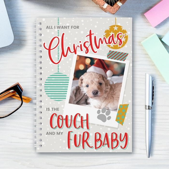Picture of A5 All I want for Christmas Pet notebook