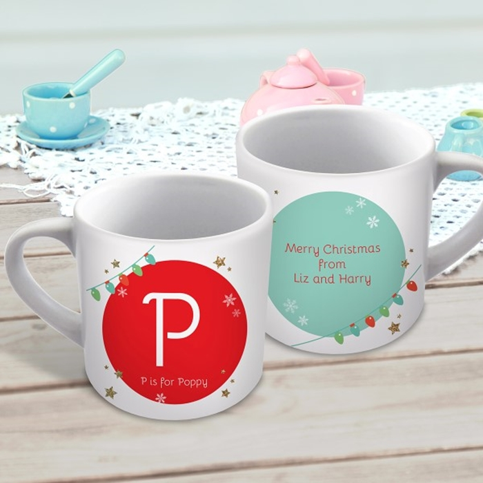 Picture of Christmas letter child's personalised mug