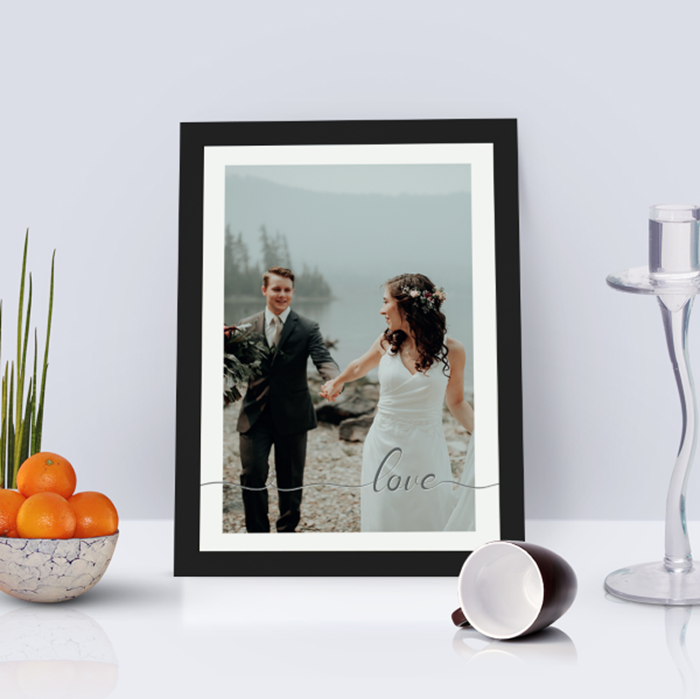 Picture of A4 Love script personalised poster