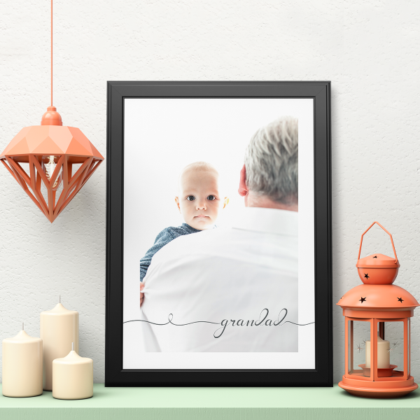 Picture of A3 grandad script personalised poster