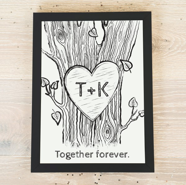 Picture of A4 Romantic personalised poster