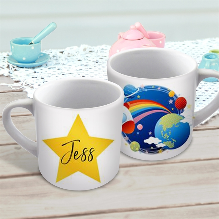 Picture of Rocket ship child's personalised mug