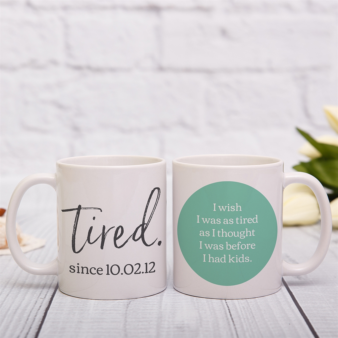 Picture of Tired personalised mug