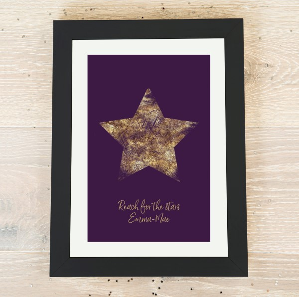 Picture of A4 Purple Star personalised poster