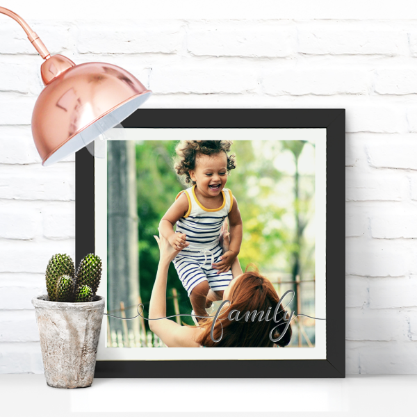 Picture of Square Family Script personalised poster