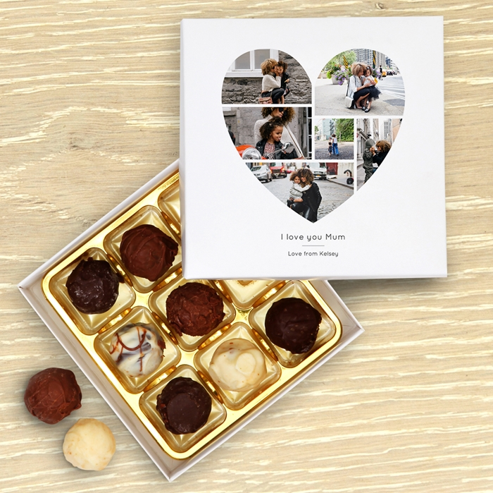 Picture of Beautiful Heart photo Chocolate Personalised Chocolate Box