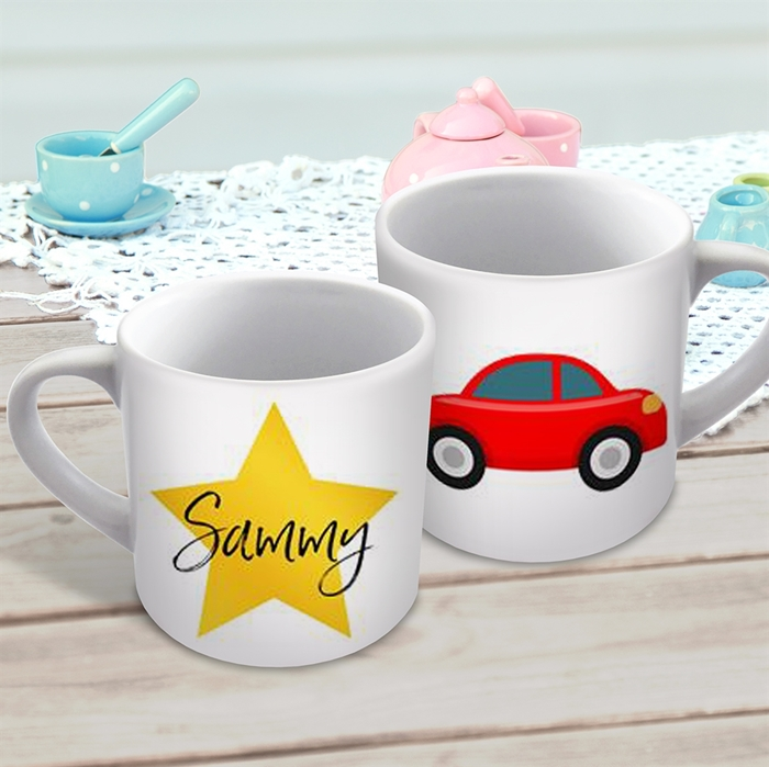 Picture of Red car child's personalised mug