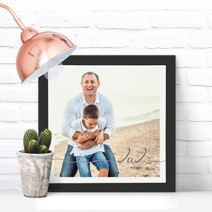 Picture of Square Dad Script personalised poster