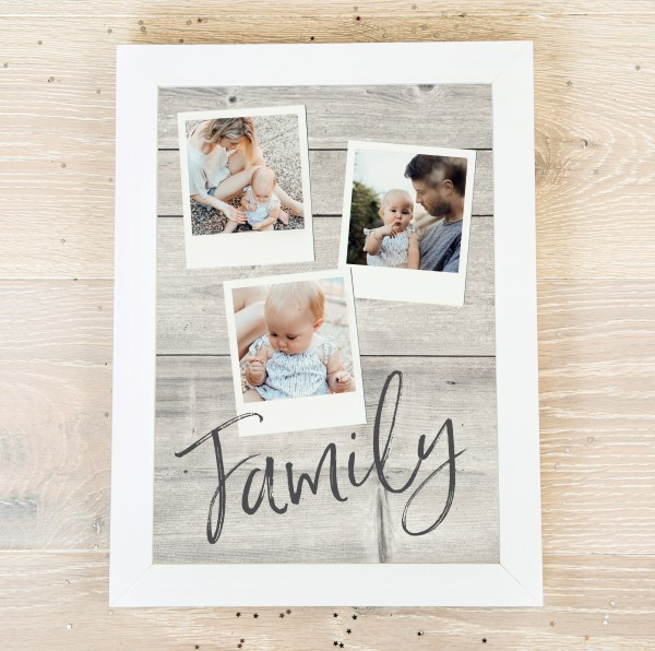 Picture of A3 family pics personalised poster