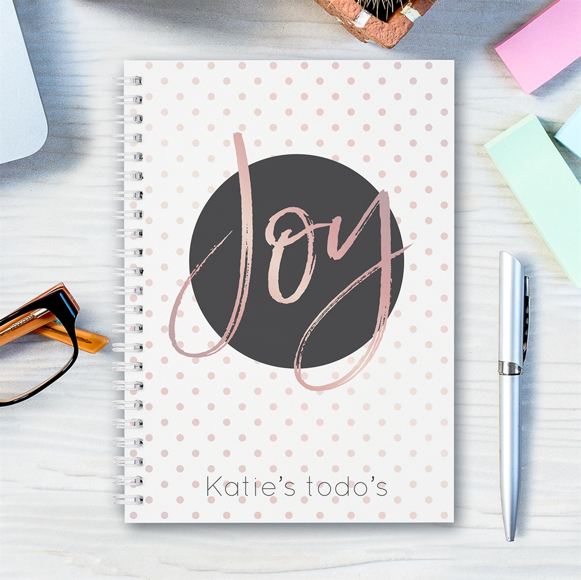 Picture of A5 Joy hardcover spiral notebook