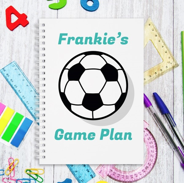 Picture of A5 Football hardcover spiral notebook